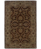 RugStudio presents LR Resources Heritage LR10106 Medium Brown- Beige Hand-Tufted, Best Quality Area Rug