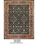 RugStudio presents LR Resources Suprima LR4115B Black / Red Hand-Knotted, Good Quality Area Rug