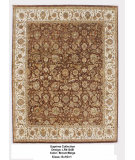 RugStudio presents LR Resources Suprima LR4134B Brown / Beige Hand-Knotted, Good Quality Area Rug