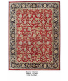 RugStudio presents LR Resources Suprima LR4134B Red / Black Hand-Knotted, Best Quality Area Rug