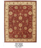 RugStudio presents LR Resources Suprima LR47002 Rust / Beige Hand-Knotted, Good Quality Area Rug