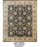 RugStudio presents LR Resources Suprima LR497712B Black / Beige Hand-Knotted, Good Quality Area Rug