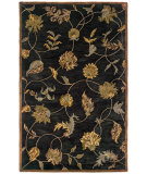 RugStudio presents LR Resources Majestic LR9363 Black Hand-Tufted, Good Quality Area Rug