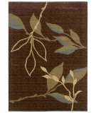 RugStudio presents LR Resources Opulence LR80950 Light Brown- Light Moss Machine Woven, Good Quality Area Rug