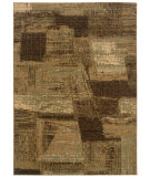 RugStudio presents LR Resources Opulence LR80953 Light Brown- Cream Machine Woven, Good Quality Area Rug
