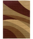 RugStudio presents LR Resources Opulence LR80957 Cherry- Dark Yellow Machine Woven, Good Quality Area Rug