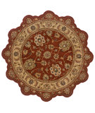 RugStudio presents LR Resources Shapes LR50921 Rust-Gold Hand-Tufted, Good Quality Area Rug