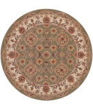 RugStudio presents LR Resources Shapes LR10564 Green-Ivory Hand-Tufted, Good Quality Area Rug