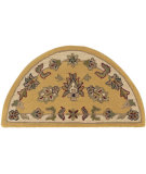 RugStudio presents LR Resources Shapes LR10580 Gold-Ivory Hand-Tufted, Good Quality Area Rug