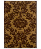 RugStudio presents LR Resources Adana Lr80905 Dark Yellow/ Light Brown Machine Woven, Good Quality Area Rug