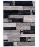 RugStudio presents LR Resources Adana Lr80913 Charcoal/Grey Machine Woven, Good Quality Area Rug