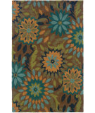 RugStudio presents LR Resources Dazzle Lr03501 Taupe Hand-Hooked Area Rug