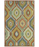 RugStudio presents LR Resources Dazzle Lr54011 Blue Multi Hand-Hooked Area Rug