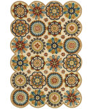 RugStudio presents LR Resources Dazzle Lr54012 Ivory Hand-Hooked Area Rug