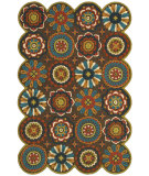 RugStudio presents LR Resources Dazzle Lr54013 Brown Hand-Hooked Area Rug