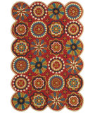 RugStudio presents LR Resources Dazzle Lr54014 Red Hand-Hooked Area Rug
