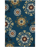 RugStudio presents LR Resources Enchant Lr02012 Blue Hand-Hooked Area Rug