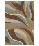 RugStudio presents LR Resources Fashion Lr20539 Blue/Brown Hand-Tufted, Good Quality Area Rug