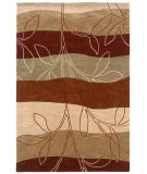 RugStudio presents LR Resources Fashion Lr20805 Rust/Ivory Hand-Tufted, Good Quality Area Rug