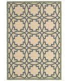RugStudio presents LR Resources Lanai Lr80943 Cream/Green Machine Woven, Good Quality Area Rug