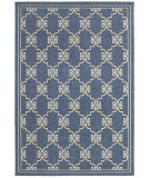 RugStudio presents LR Resources Lanai Lr80944 Blue/Cream Machine Woven, Good Quality Area Rug