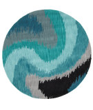 RugStudio presents LR Resources Fashion Lr02511 Blue Hand-Tufted, Good Quality Area Rug