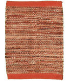RugStudio presents LR Resources Tribeca Lr04319 Rust Flat-Woven Area Rug