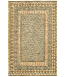 RugStudio presents Rugstudio Sample Sale 109327R Gray/Khaki Hand-Knotted, Best Quality Area Rug