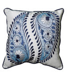 RugStudio presents LR Resources Pillows Lr07206 Blue/White