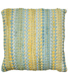 RugStudio presents LR Resources Pillows Lr07239 Blue / Yellow