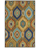 RugStudio presents LR Resources Dazzle Lr54010 Green Multi Hand-Hooked Area Rug