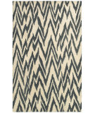 RugStudio presents LR Resources Dazzle Lr54017 Beige/Coal Hand-Hooked Area Rug