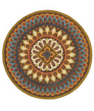 RugStudio presents LR Resources Dazzle Lr54025 Brown Hand-Hooked Area Rug
