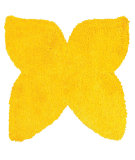 RugStudio presents LR Resources Senses Shag Shapes Lr80960 Yellow Area Rug