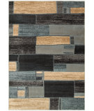 RugStudio presents LR Resources Adana Lr80970 Blue/Ivory Machine Woven, Good Quality Area Rug