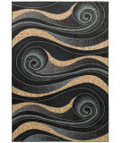 RugStudio presents LR Resources Adana Lr80978 Black Machine Woven, Good Quality Area Rug
