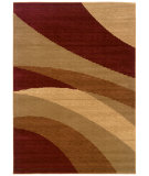 RugStudio presents LR Resources Opulence Lr80957 Cherry/ Dark Yellow Machine Woven, Good Quality Area Rug
