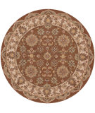 RugStudio presents LR Resources Shapes Lr10563 Coffee/Ivory Hand-Tufted, Good Quality Area Rug