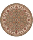 RugStudio presents LR Resources Shapes Lr10564 Green/Ivory Hand-Tufted, Good Quality Area Rug