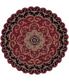 RugStudio presents LR Resources Shapes Lr10572 Red/Black Hand-Tufted, Good Quality Area Rug