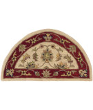 RugStudio presents LR Resources Shapes Lr10577 Ivory/Red Hand-Tufted, Good Quality Area Rug