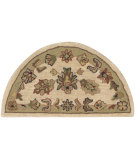 RugStudio presents LR Resources Shapes Lr10579 Ivory/Light Green Hand-Tufted, Good Quality Area Rug