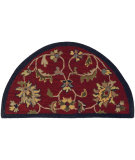 RugStudio presents LR Resources Shapes Lr10582 Red/Navy Hand-Tufted, Good Quality Area Rug