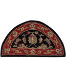 RugStudio presents LR Resources Shapes Lr10583 Black/Red Hand-Tufted, Good Quality Area Rug