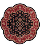 RugStudio presents LR Resources Shapes Lr10752 Black/Red Hand-Tufted, Good Quality Area Rug