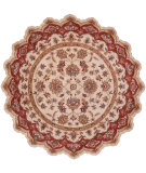 RugStudio presents LR Resources Shapes Lr10757 Ivory/Red Hand-Tufted, Good Quality Area Rug