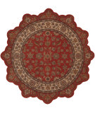 RugStudio presents LR Resources Shapes Lr50001 Brick/Ivory Hand-Tufted, Good Quality Area Rug