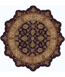 RugStudio presents LR Resources Shapes Lr50003 Black/Ivory Hand-Tufted, Good Quality Area Rug