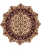RugStudio presents LR Resources Shapes Lr50004 Ivory/Black Hand-Tufted, Good Quality Area Rug