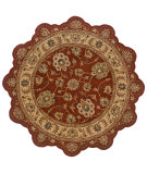 RugStudio presents LR Resources Shapes Lr50921 Rust/Gold Hand-Tufted, Good Quality Area Rug